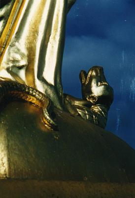 Image result for virgin mary snake devil