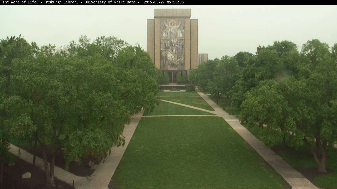 ND Hesburgh Library Webcam